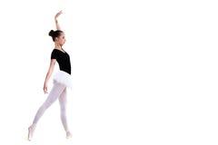 Νέος όμορφος χορευτής μπαλέτου που απομονώνεται πέρα από το άσπρο υπόβαθρο Στοκ φωτογραφία με δικαίωμα ελεύθερης χρήσης