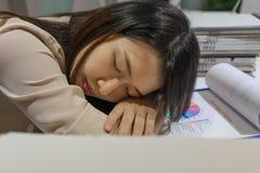 Νέος ύπνος επιχειρηματιών στο γραφείο στοκ εικόνα με δικαίωμα ελεύθερης χρήσης