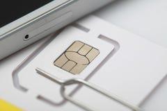 Νέος sim καρτών μικροϋπολογιστής και πρότυπα σχήματος νανο Στοκ Εικόνες