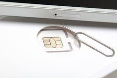 Νέος sim καρτών μικροϋπολογιστής και πρότυπα σχήματος νανο Στοκ φωτογραφίες με δικαίωμα ελεύθερης χρήσης