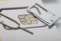 Νέος sim καρτών μικροϋπολογιστής και πρότυπα σχήματος νανο Στοκ εικόνα με δικαίωμα ελεύθερης χρήσης