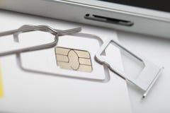 Νέος sim καρτών μικροϋπολογιστής και πρότυπα σχήματος νανο Στοκ Εικόνα