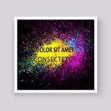 Νέου ζωηρόχρωμο έκρηξης σχέδιο καλύψεων χρωμάτων splatter καλλιτεχνικό δ απεικόνιση αποθεμάτων