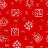 Νέο άνευ ραφής σχέδιο έτους και Χριστουγέννων, δώρα στο ύφος ο zenart διανυσματική απεικόνιση