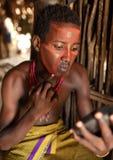 Νέο άτομο Arbore στο νότο Omo, Αιθιοπία Στοκ Εικόνες