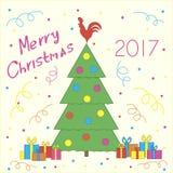 Νέο δέντρο έτους διανυσματική απεικόνιση