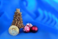 Νέο έξυπνο σφαιρικό ηλεκτρονικό νόμισμα Bitcoin Στοκ φωτογραφίες με δικαίωμα ελεύθερης χρήσης
