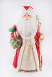 Νέο έτος Άγιος Βασίλης σε ένα κόκκινο παλτό Στοκ Εικόνα