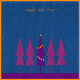νέο έτος έλατου ανασκόπησ&e διανυσματική απεικόνιση