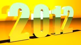 νέο έτος ανασκόπησης του 2012 Στοκ Φωτογραφίες
