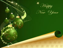 νέο έτος ανασκόπησης Στοκ Εικόνα