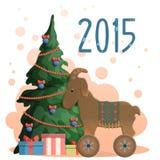 νέο έτος απεικόνισης χαιρ&ep Διανυσματική απεικόνιση