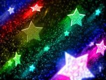 νέο έτος αστεριών διανυσματική απεικόνιση