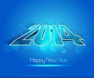 Νέο έτος για το λαμπρό δημιουργικό μπλε ζωηρόχρωμο backgroun διακοπών του 2014 απεικόνιση αποθεμάτων
