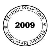 νέο έτος γραμματοσήμων το&upsi απεικόνιση αποθεμάτων