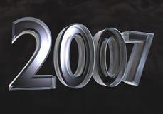 νέο έτος γυαλιού του 2007 τρ&io Στοκ εικόνα με δικαίωμα ελεύθερης χρήσης