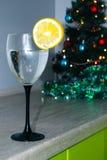 νέο έτος γυαλιού Στοκ Φωτογραφίες