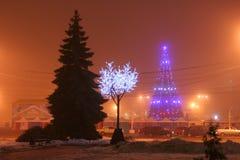 νέο έτος δέντρων Στοκ Εικόνα
