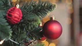 νέο έτος διακοσμήσεων Χριστουγέννων απόθεμα βίντεο