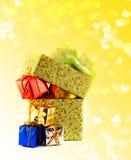 νέο έτος διακοσμήσεων s κιβωτίων Στοκ εικόνες με δικαίωμα ελεύθερης χρήσης