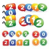 νέο έτος διακριτικών Στοκ εικόνα με δικαίωμα ελεύθερης χρήσης