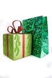 νέο έτος δώρων Χριστουγένν&ome Στοκ Εικόνα