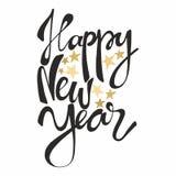 νέο έτος Εγγραφή χεριών Διανυσματική απεικόνιση για τις ευχετήριες κάρτες σχεδίου Στοκ Εικόνα