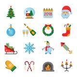 νέο έτος εικονιδίων Στοκ φωτογραφίες με δικαίωμα ελεύθερης χρήσης