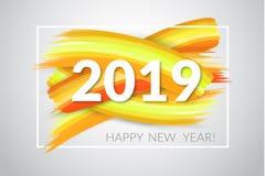 2019 νέο έτος επίσης corel σύρετε το διάνυσμα απεικόνισης Στοκ Εικόνες