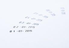 νέο έτος ημερομηνίας Στοκ Εικόνες