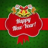 νέο έτος διακοπών ανασκόπη&si Στοκ Εικόνα