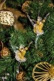νέο έτος διακοσμήσεων Αριθμοί Ballerina Ντεκόρ χριστουγεννιάτικων δέντρων Στοκ Εικόνες