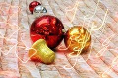 νέο έτος διακοσμήσεων Στοκ Φωτογραφίες