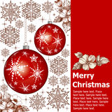 Νέο έτος. Κάρτα Χριστουγέννων χαιρετισμού. Στοκ Εικόνα