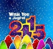 2015 νέο έτος και ευτυχές υπόβαθρο Χριστουγέννων Στοκ Εικόνα