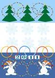 νέο έτος καρτών Χριστουγέν&n Στοκ φωτογραφίες με δικαίωμα ελεύθερης χρήσης