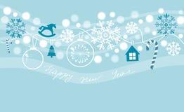 νέο έτος καρτών Στοκ Εικόνα
