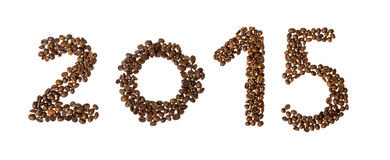 Νέο έτος καφέ, 2015 Στοκ εικόνα με δικαίωμα ελεύθερης χρήσης