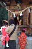 νέο έτος κιμονό στοκ φωτογραφία