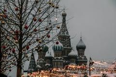 Νέο έτος κόκκινων πλατειών της Μόσχας στοκ εικόνα