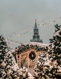 Νέο έτος κόκκινων πλατειών της Μόσχας στοκ φωτογραφία