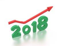Νέο έτος 2018 με το κλειδί Στοκ Εικόνες