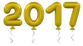 νέο έτος μπαλονιών διανυσματική απεικόνιση