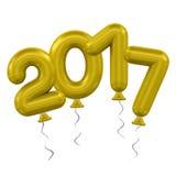 νέο έτος μπαλονιών Στοκ Φωτογραφίες