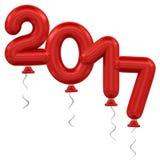 νέο έτος μπαλονιών Στοκ Φωτογραφία
