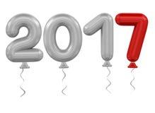 νέο έτος μπαλονιών Στοκ φωτογραφία με δικαίωμα ελεύθερης χρήσης