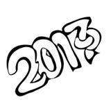 Νέο έτος 2017 οικοδεσποτών πηγών Στοκ Εικόνα