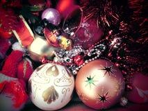 νέο έτος οικολογικός ξύλινος διακοσμήσεων Χριστουγέννων Τρύγος _ Στοκ Εικόνα