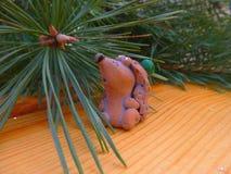 νέο έτος οικολογικός ξύλινος διακοσμήσεων Χριστουγέννων Τρύγος _ Στοκ εικόνες με δικαίωμα ελεύθερης χρήσης