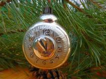 νέο έτος οικολογικός ξύλινος διακοσμήσεων Χριστουγέννων Τρύγος _ Στοκ Φωτογραφίες